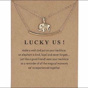 Lucky Us Elephant Charm Necklace